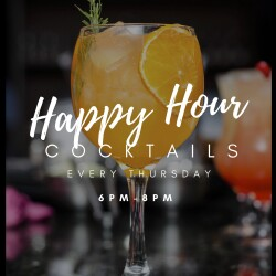 Happy Hour cocktails