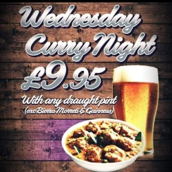 WEDNESDAY Curry night offer