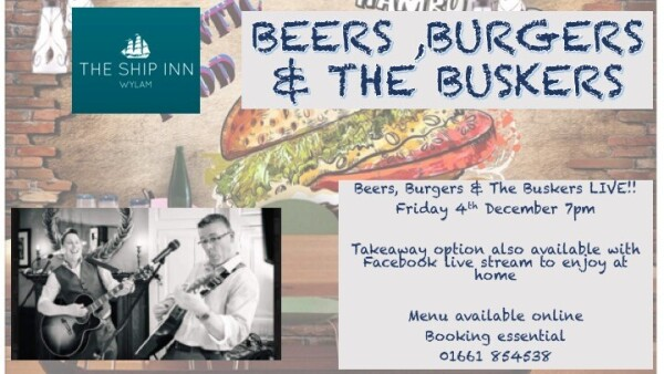 Beers, Burgers & The Buskers