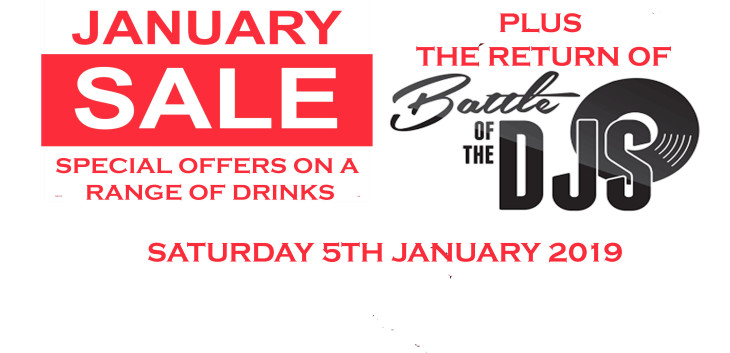January Sale + DJ Battle