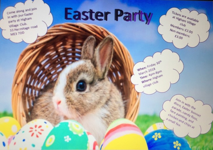 Easter Party Friday 30 March 2018