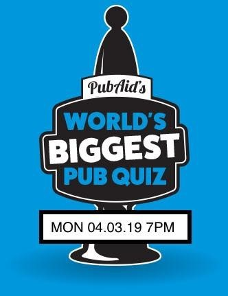 PubAid's World's Biggest Quiz