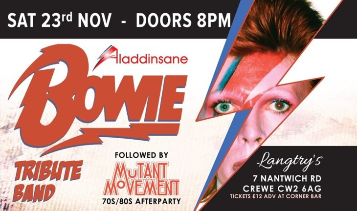 David Bowie Tribute & 70's/80's Party