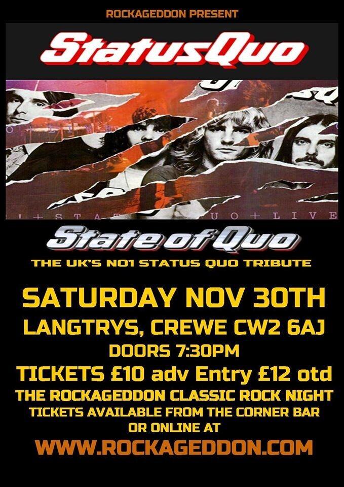 Rockageddon - Status Quo Tribute