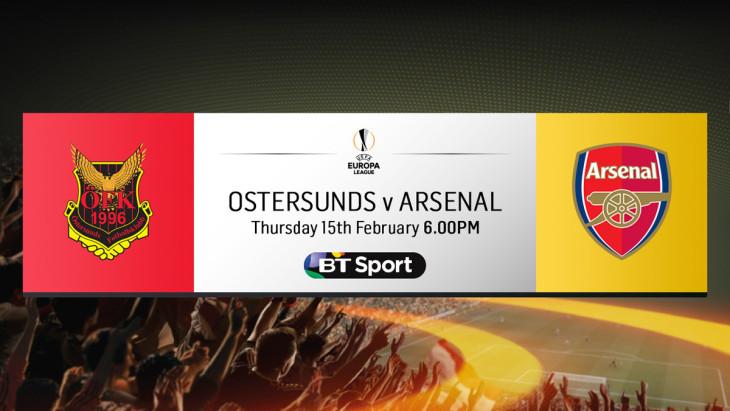 oustersunds v Arsenal