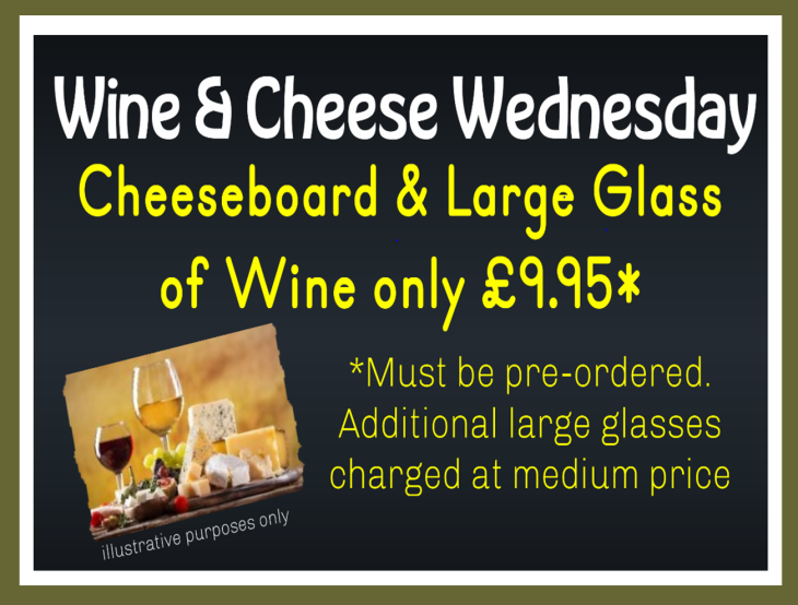 WINE & CHEESE WEDNESDAY