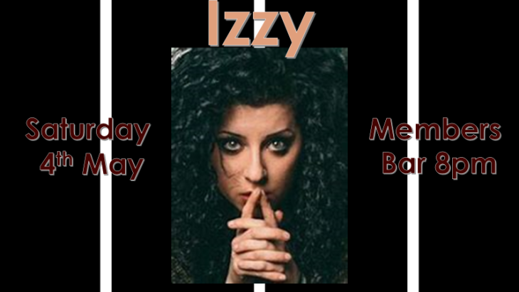 IZZY  - THIS SATURDAY!