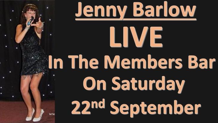Singer Jenny Barlow