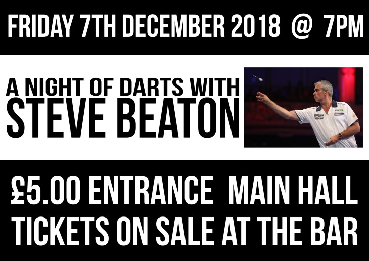 Darts Night with Steve Beaton