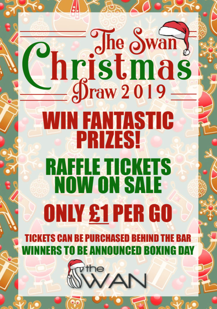 CHRISTMAS DRAW TICKETS NOW ON SALE!