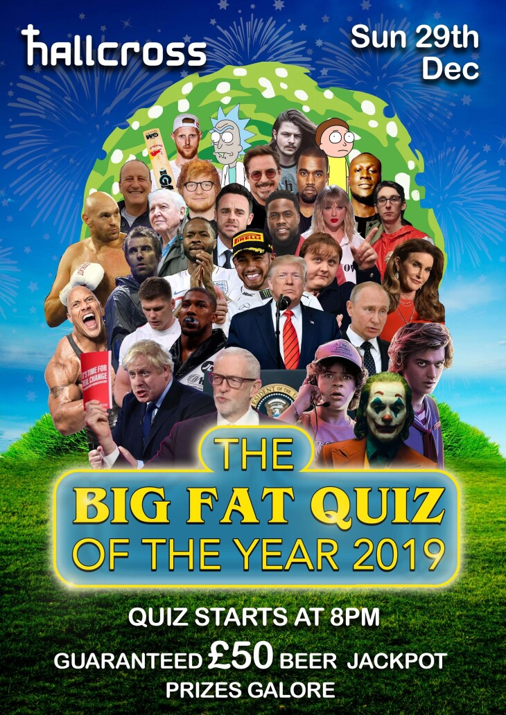 The Hallcross Big Fat Quiz of the Year