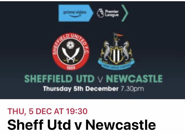 Sheffield Utd v Newcastle
