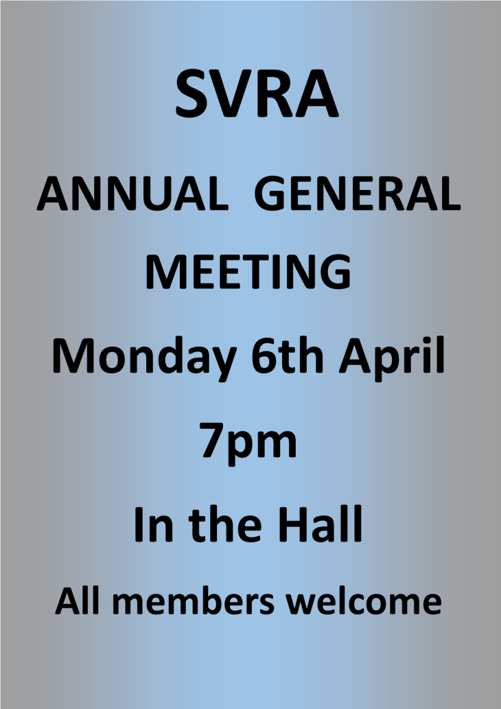 SVRA Annual General Meeting