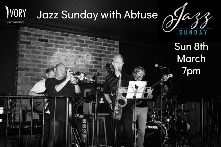 Jazz Sunday 6pm Sunday 8th March