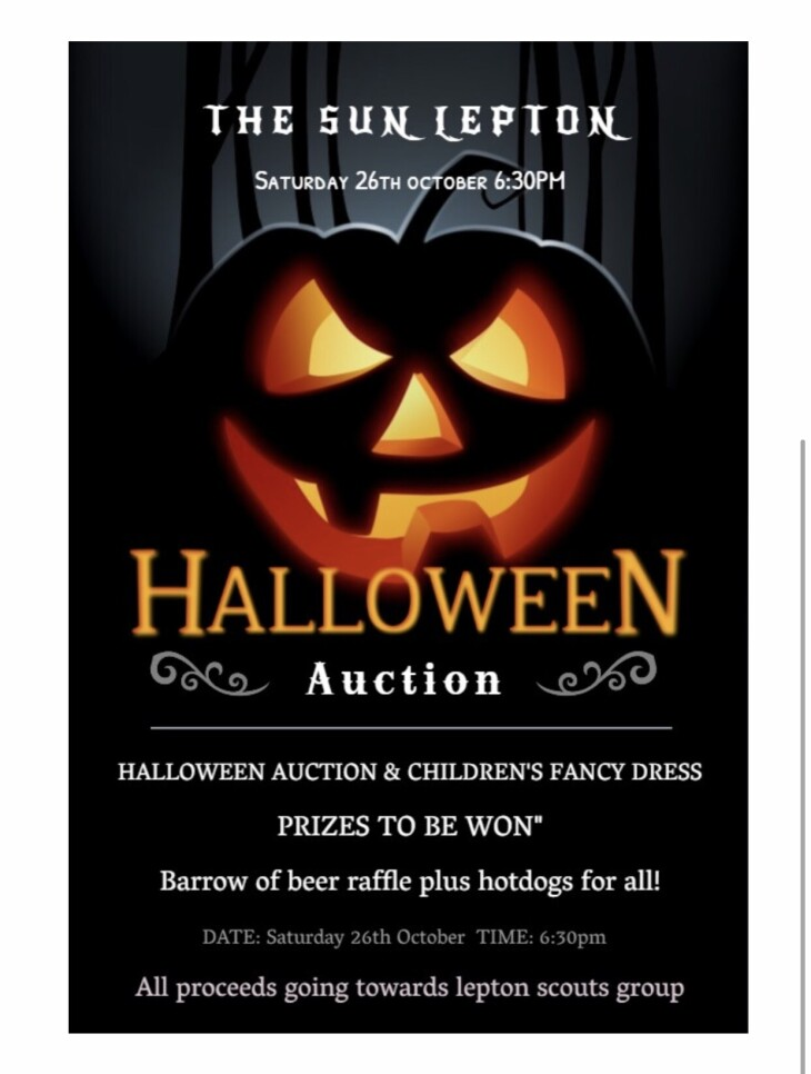 Halloween auction and fancy dress