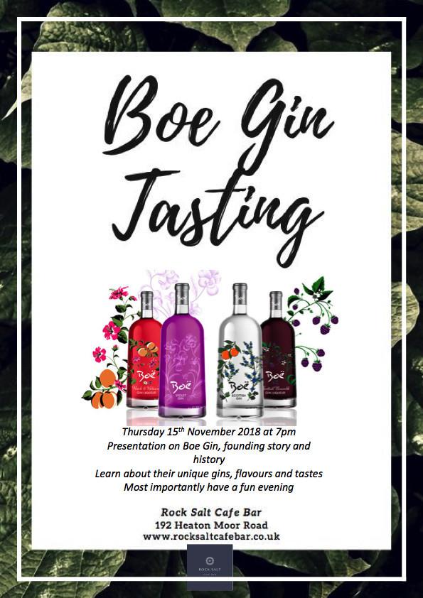 Boe Gin Tasting