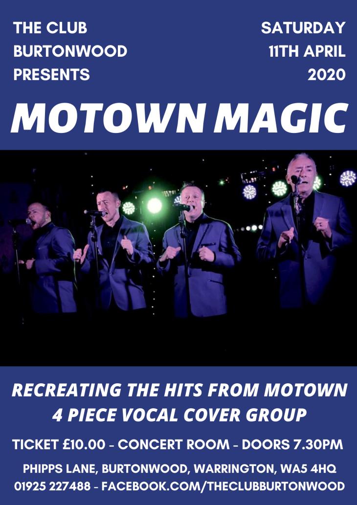 Motown Magic live at The Club