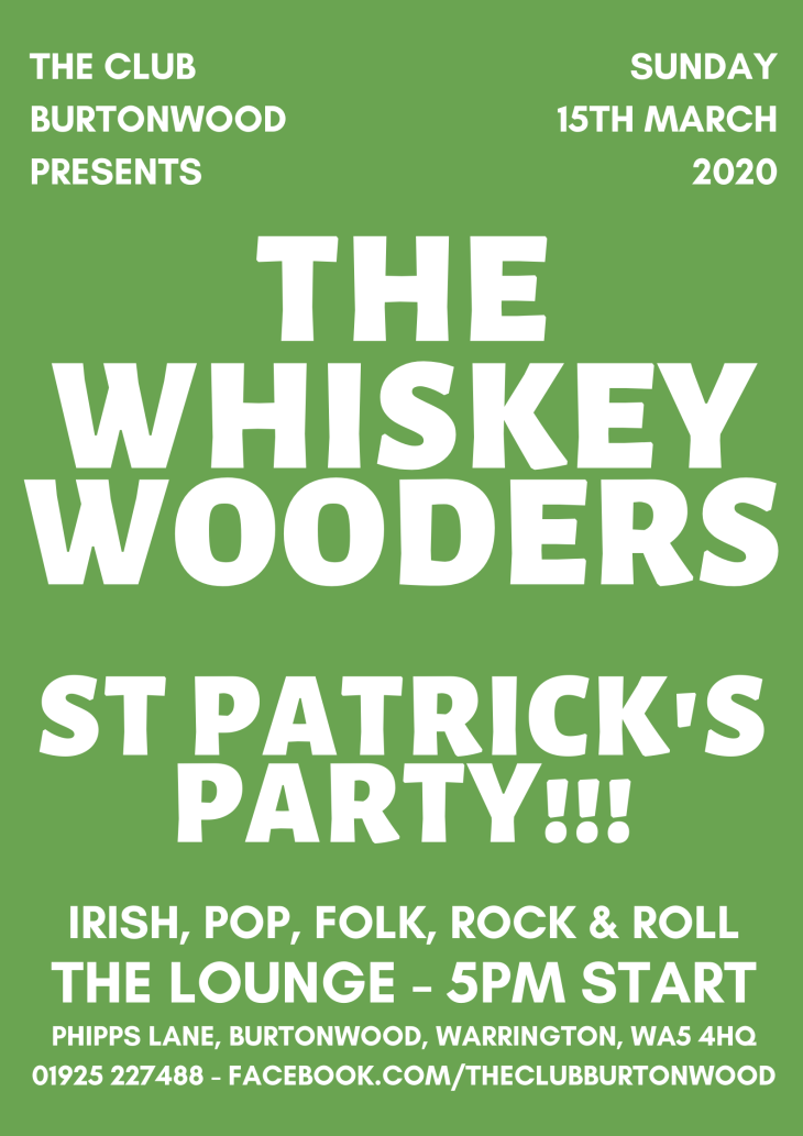 St Patrick's Party The Whiskey Wooders