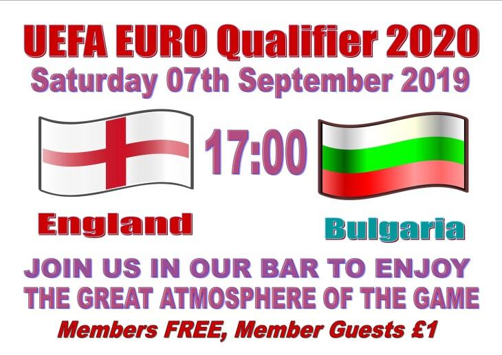 England 17:00 Bulgaria-EURO Qualifier