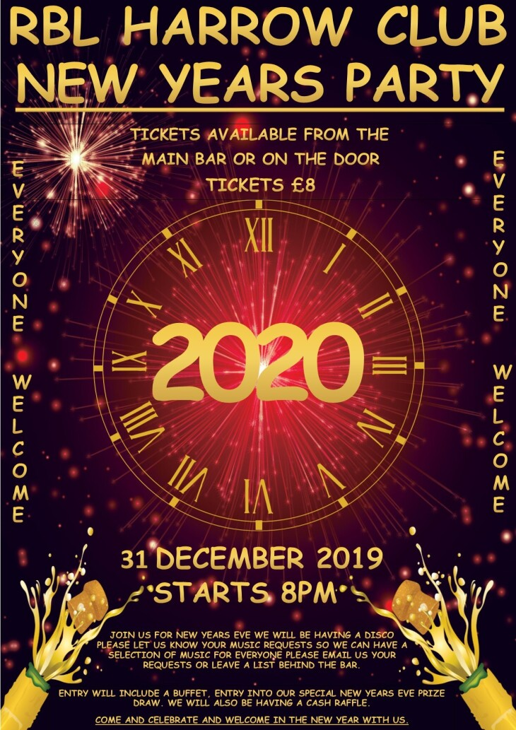 NEW YEARS EVE PARTY STARTS 8PM