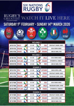 Live 6 Nations at the Boars Head
