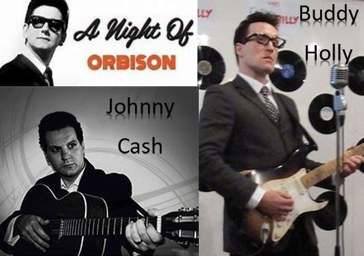 Buddy Holly, Roy Orbison, Johnny Cash