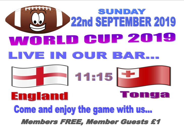 Rugby World Cup - England 11:15 Tonga
