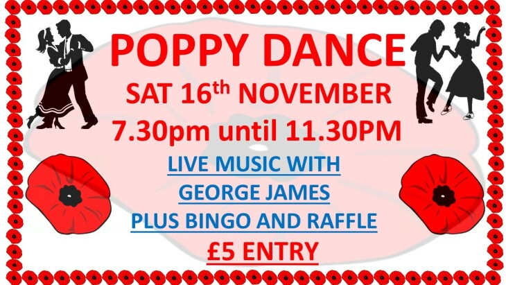 POPPY DANCE 7.30pm - 11.30pm