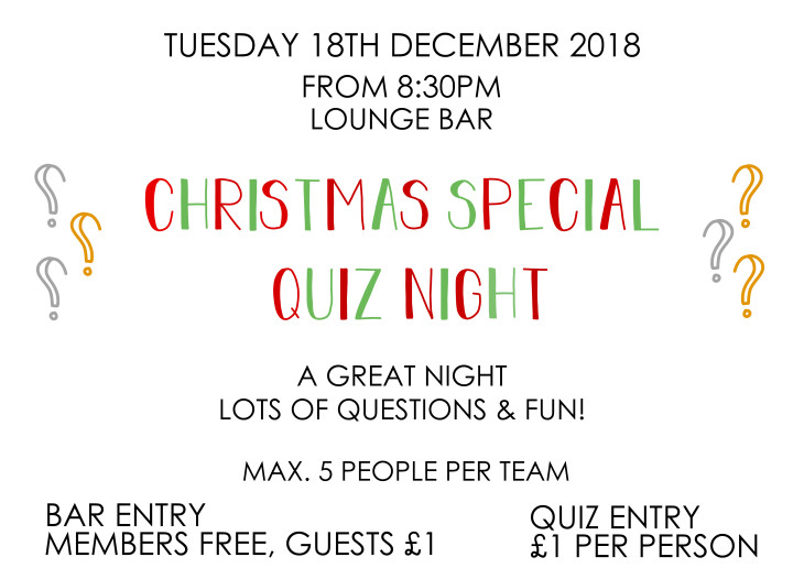 Christmas Special Quiz Night