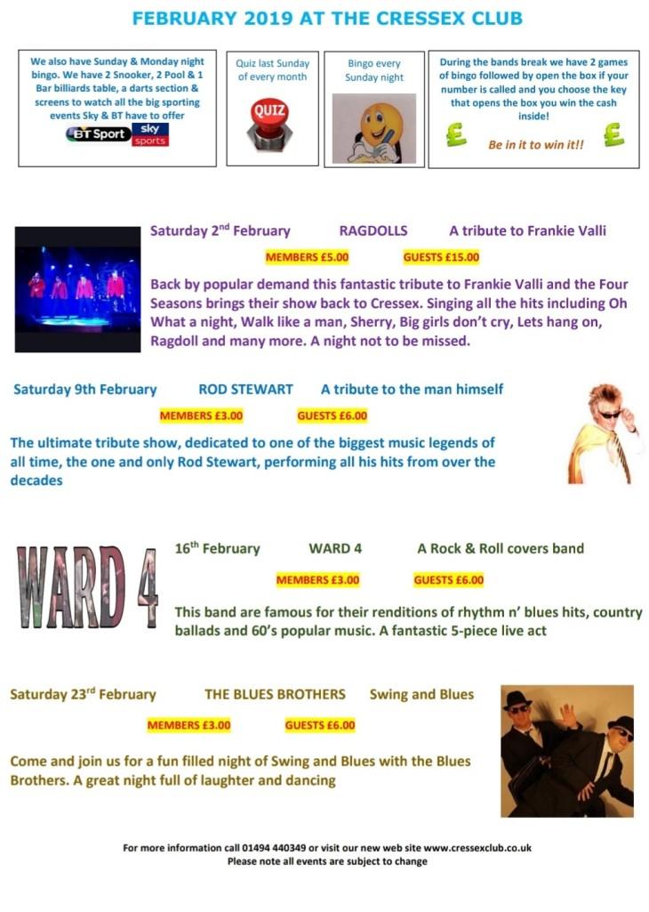 February Entertainment