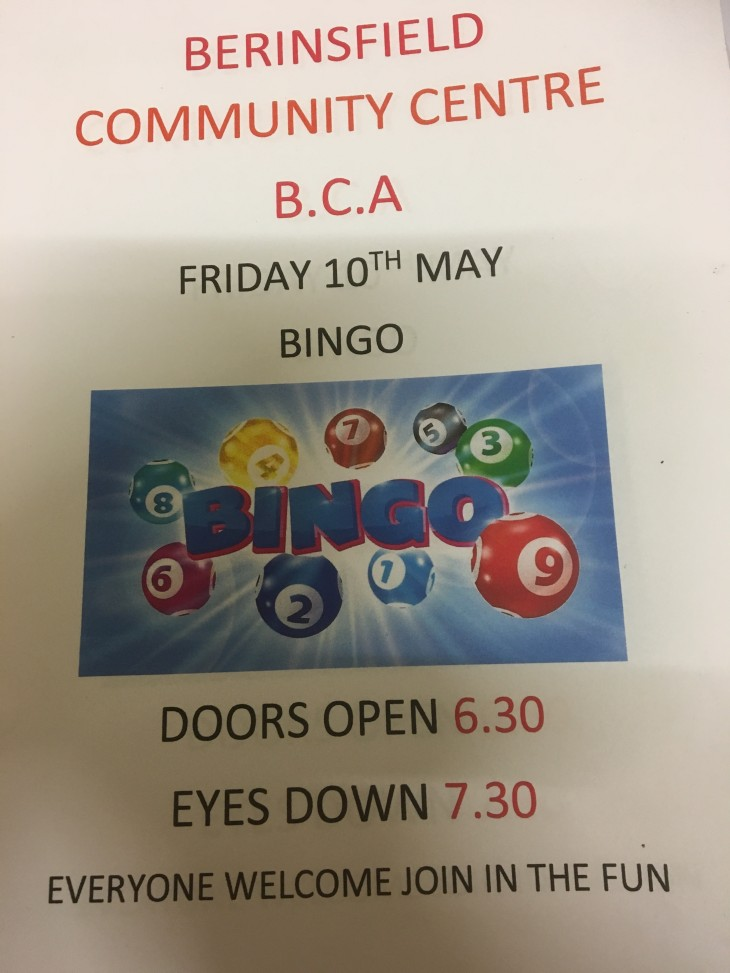 Berinsfield Community Bingo