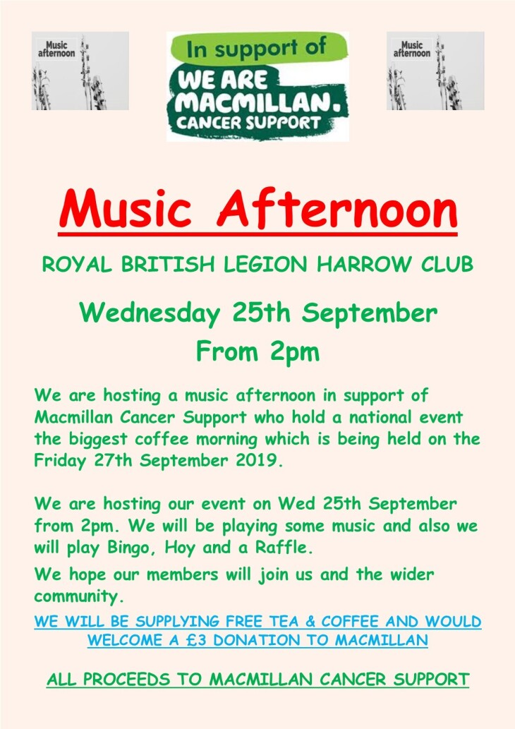 CHARITY MUSIC AFTERNOON