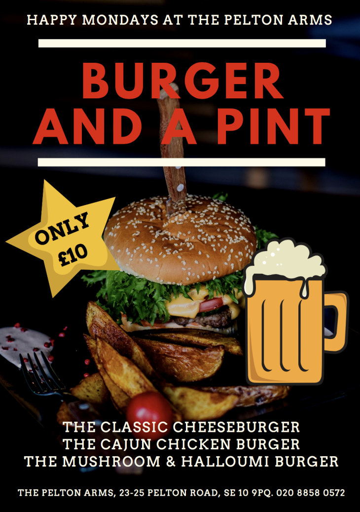 Burger and Beer Night - £10