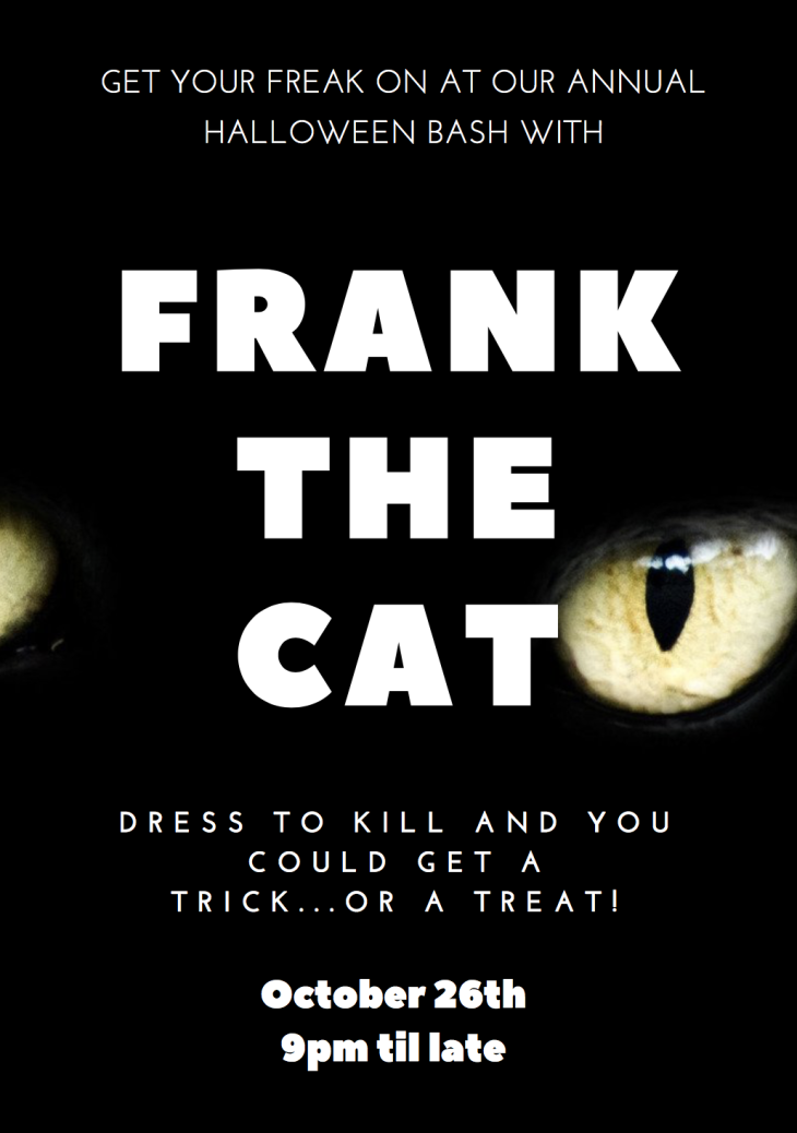 Halloween with Frank the Cat.