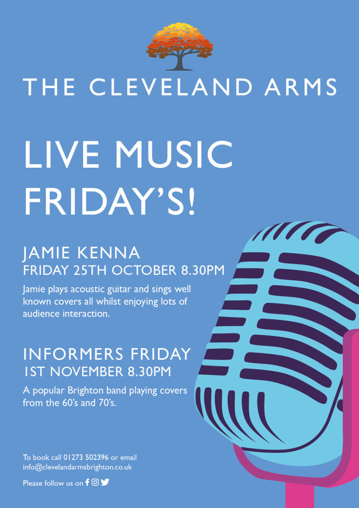 Live music with Jamie Kenna