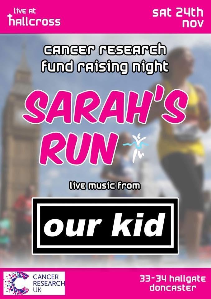 Sarah's run fundraiser