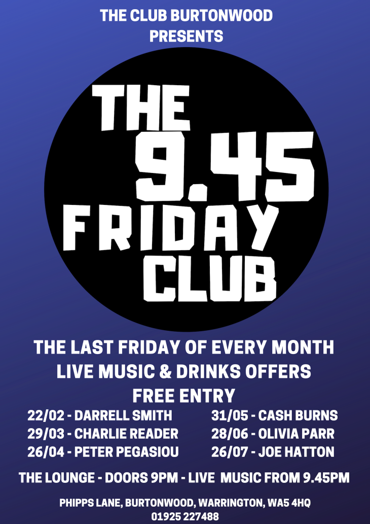 The 9.45 Friday Club: Charlie Reader