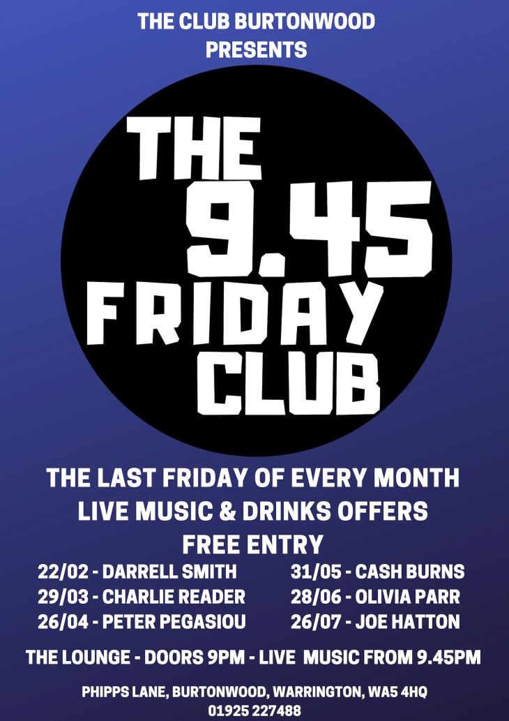 The 9.45 Friday Club: Cash Burns