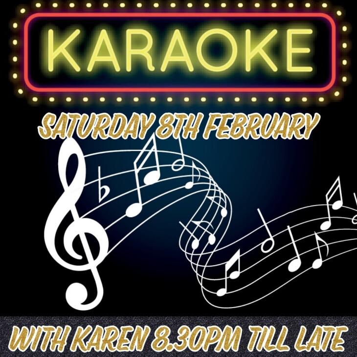 Karaoke with Karen 8.30pm