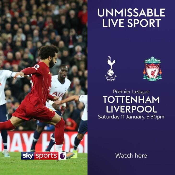 Tottenham V Liverpool Kick Off 5:30pm