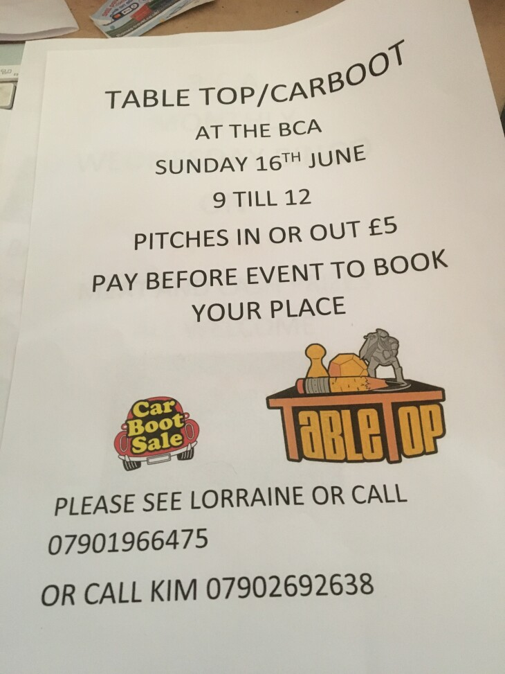 Table Top/Car Boot Sale