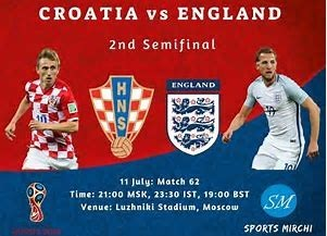 England vs Croatia.