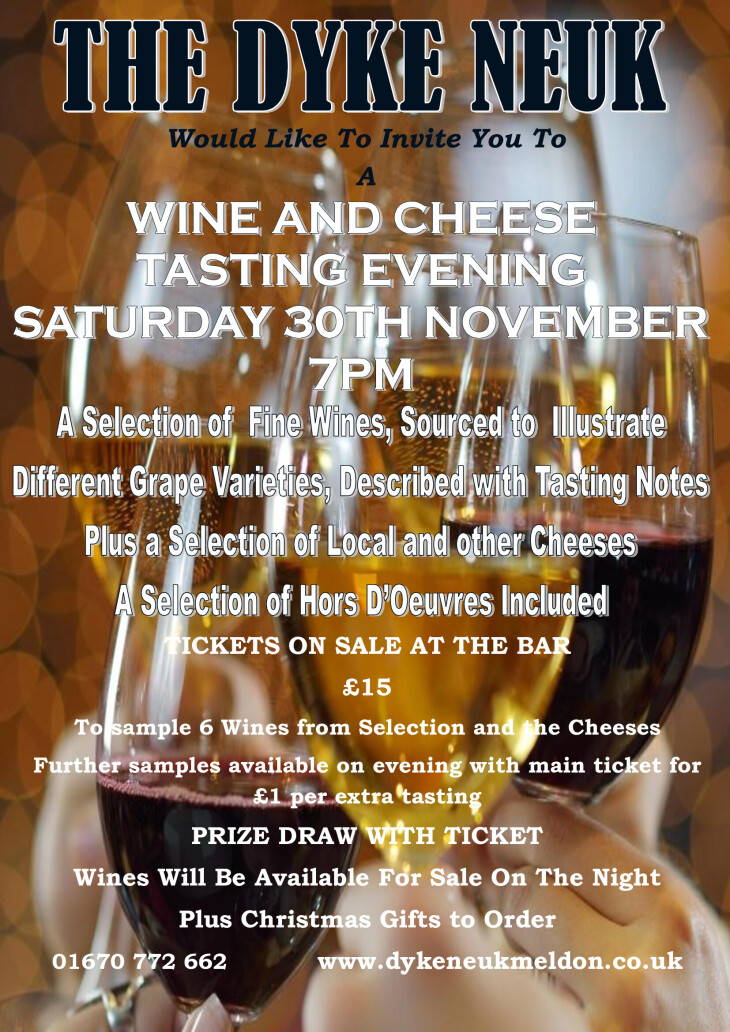 Wine & Cheese Tasting Evening