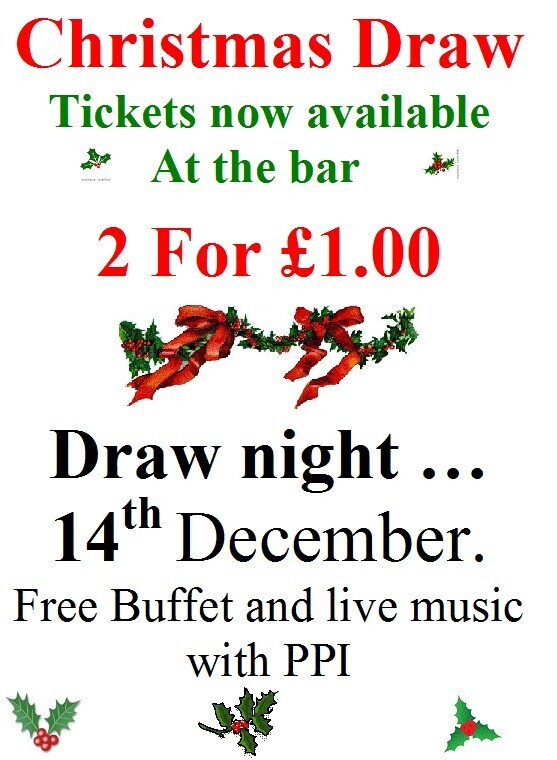 CHRISTMAS DRAW TICKETS