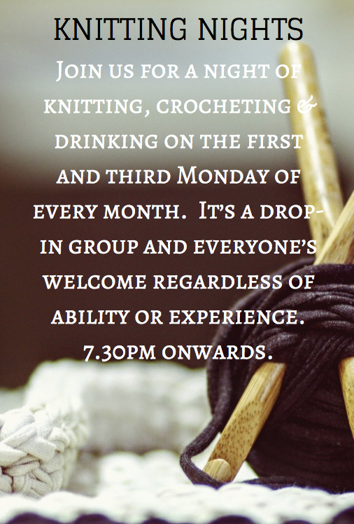 KNITTING NIGHT