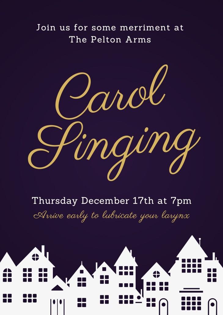 Festive Carol Singing