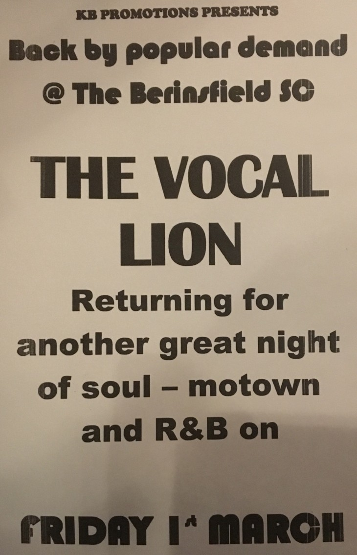 VOCAL LION - MEMBERS DRAW