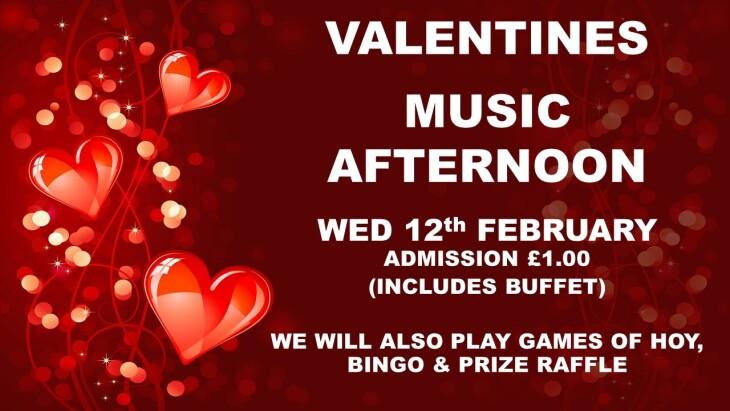 VALENTINE MUSIC AFTERNOON STARTS 130PM