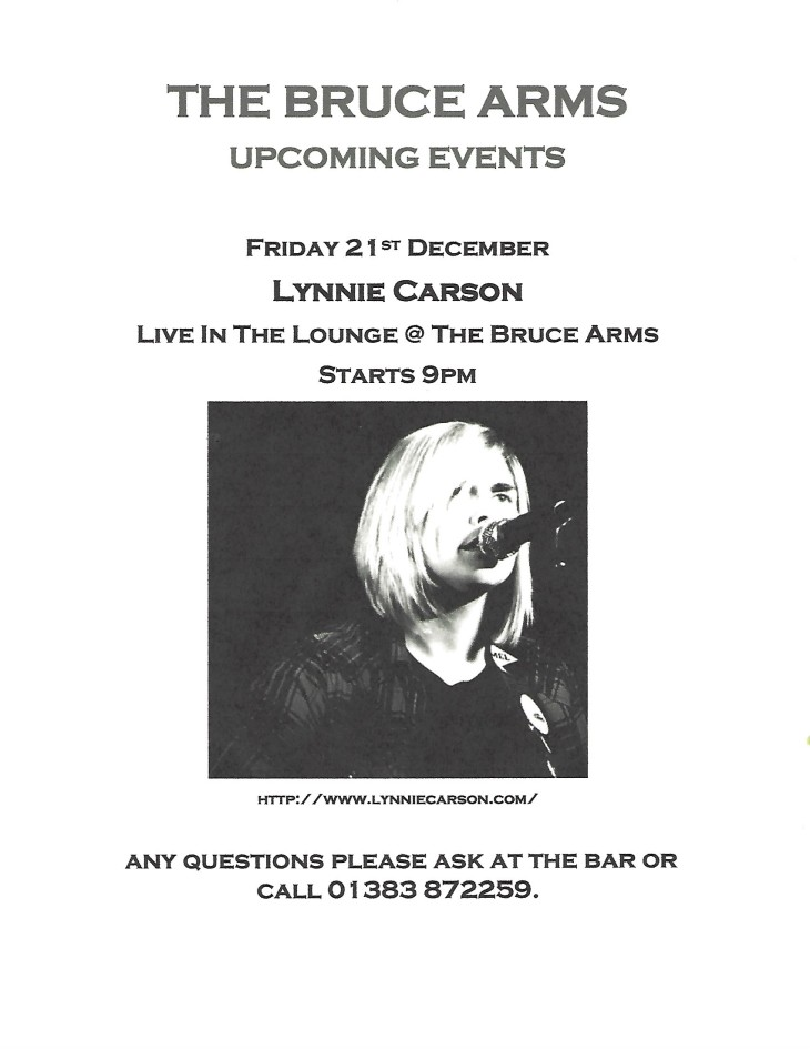 Lynnie Carson live in The Lounge @ 9pm