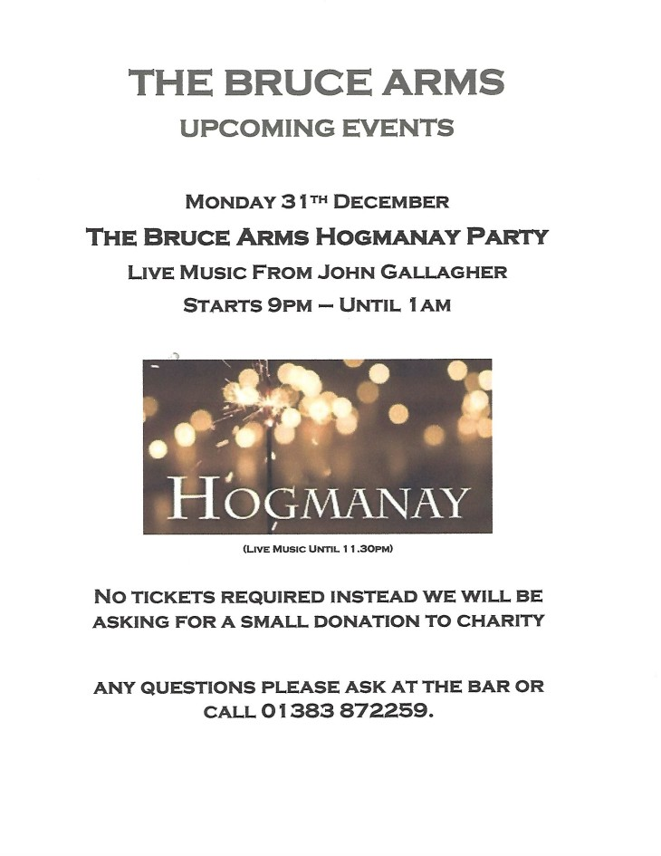 The Bruce Arms Hogmanay Party